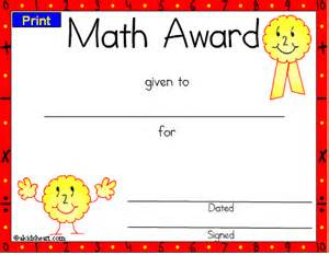 Math Award Template by Certificates For Teachers Mathematics Awards And