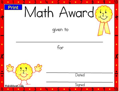math certificate template 28 images education
