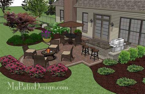 creative backyard patio design with grill station bar