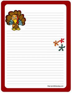 Thanksgiving Letter Template by Free Printable Thanksgiving Stationery