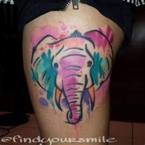 watercolor tattoos milwaukee geometric watercolor elephant done by sammy at
