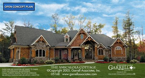 cottage house amicalola cottage house plan house plans by garrell