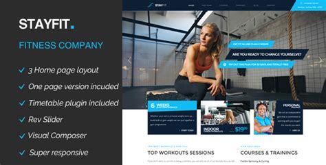 themeforest fitness stayfit sports health gym fitness wp theme by