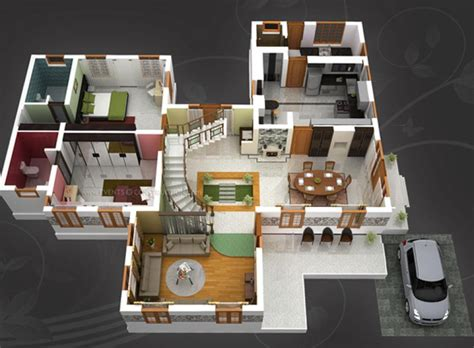 31 awesome villa floor plan 3d images plan pinterest house idea 2 bed 2 bath home plans for dream home
