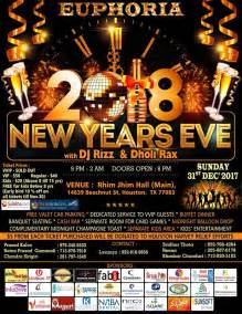 new year 2018 houston tx euphoria new year 2018 in rhim jhim