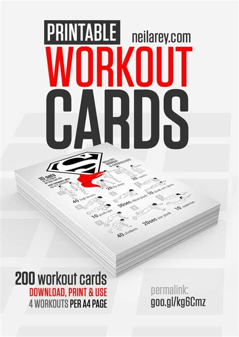 printable exercise program cards 17 best ideas about fitness binder on pinterest workout