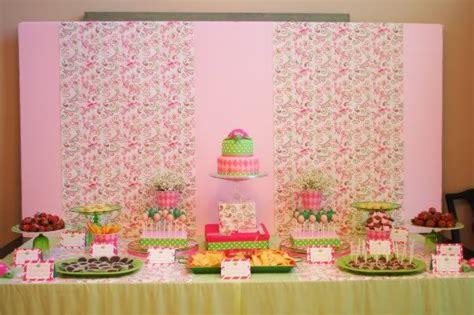 pink and green turtle baby shower kara s ideas