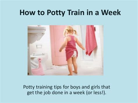 how to potty a in a week how to potty in a week
