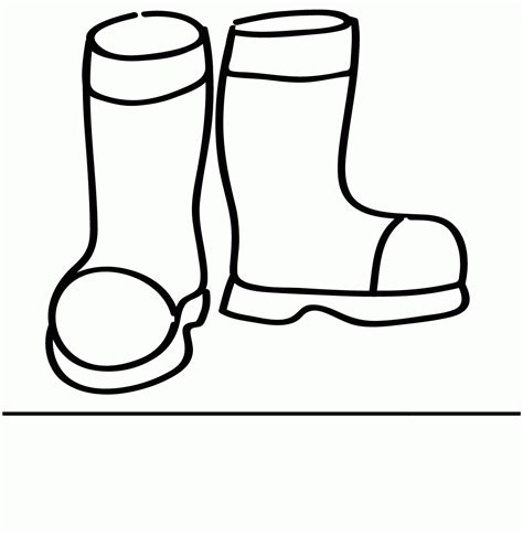 boot colors boots coloring page coloring home