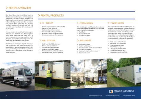 Power Ads 408 power electrics rental profile