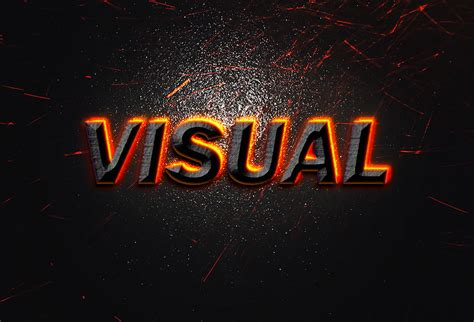 visual text effect psd graphicsfuel