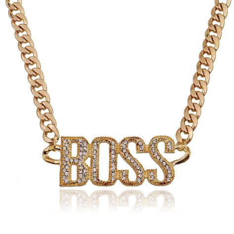 chain jewelry 18k gold silver chain necklace trendy quot quot letter