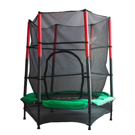 troline with safety enclosure net ladder cover 8ft