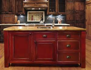Distressed Island Kitchen by Island Distressed Look This