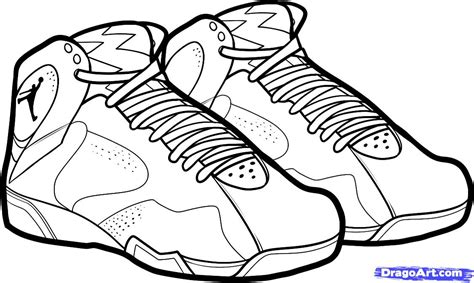 Michael Jordan Coloring Pages How To Draw Air Jordan Shoe Coloring Pages