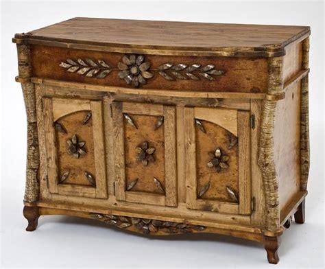Rustic Furniture Birch Bark Console Table Adirondack Furniture Rustic Lodge