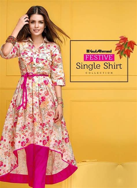 gul ahmed single eid shirts   collection