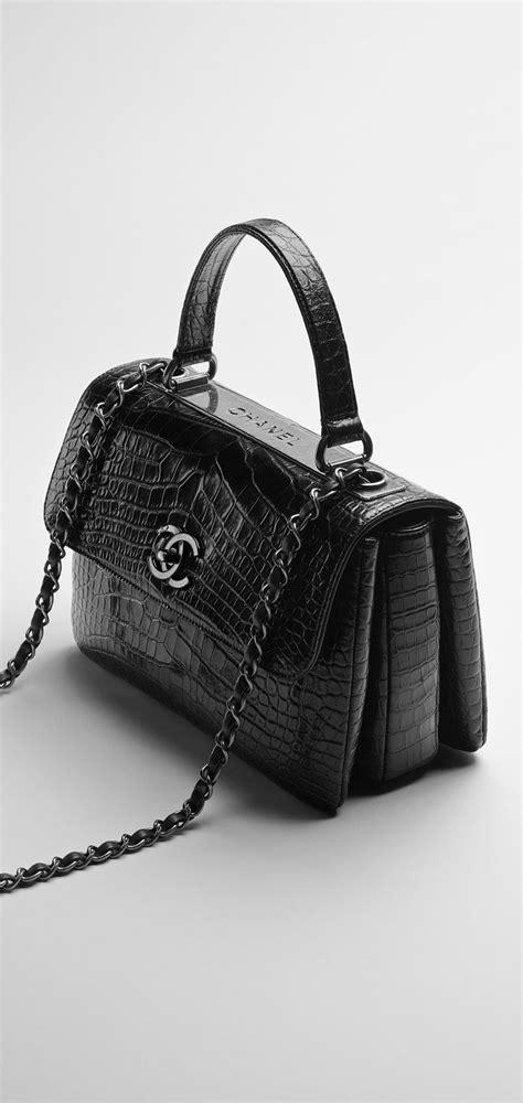 Chanel Forever Alligator by Sac 224 Rabat Alligator Noir Chanel Accessoires