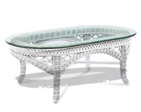 White Wicker Table by White Wicker Coffee Table Lanai Wicker Paradise