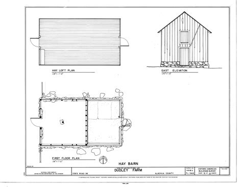 Philip Johnson Glass House Building Floor Plans Scaled by File Hay Barn East Elevation Hay Loft Plan And