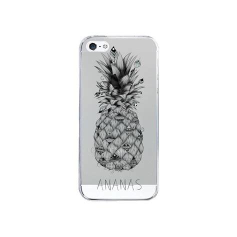 Sh103 Iphone 5 5s Fruit coque ananas fruit transparente pour iphone 5 5s et se