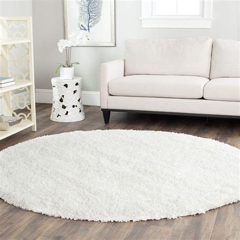 best decor round white shag rug best decor things