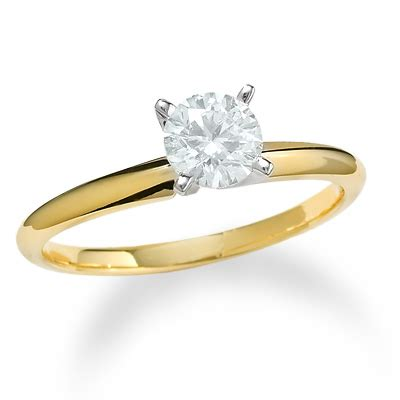 5 8 ct solitaire engagement ring in 14k gold