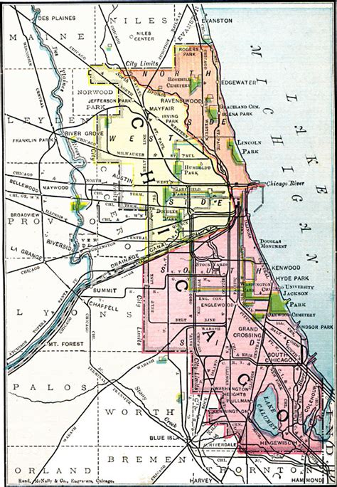 chicago city limits map chicago and vicinity