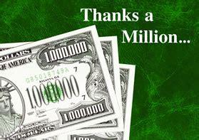 Million Dollar Gift Card - million dollar greeting card say thanks a million