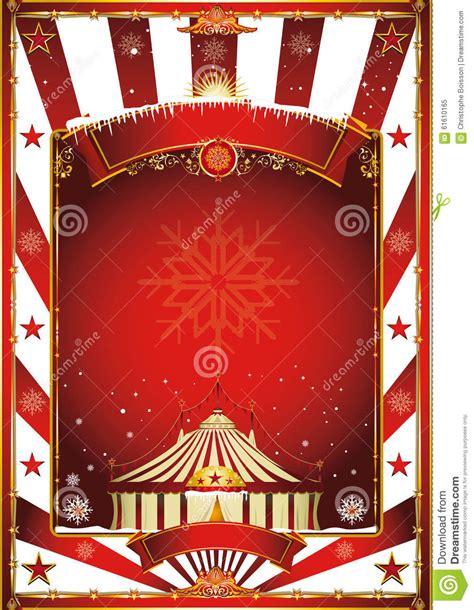 christmas circus vintage poster stock vector image