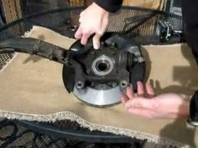 how to install replace rear wheel hub bearing assembly