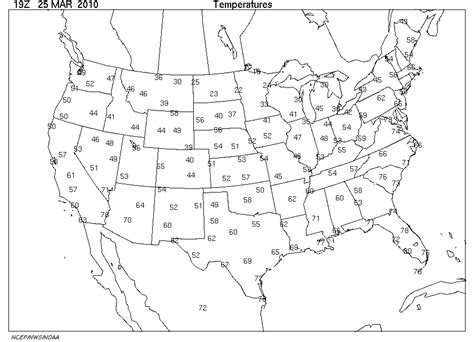 blank us weather map physical science weather isoplething