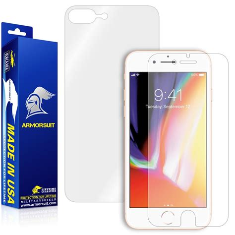 apple iphone 8 plus screen protector friendly back protector armorsuit