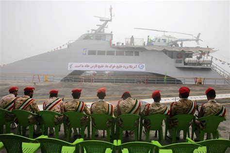 catamaran military ship iran unveils new helicopter carrying catamaran ship