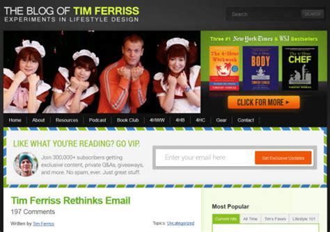 Tim Ferriss Email Detox by Content Marketing How Tim Ferriss Turned His Into A