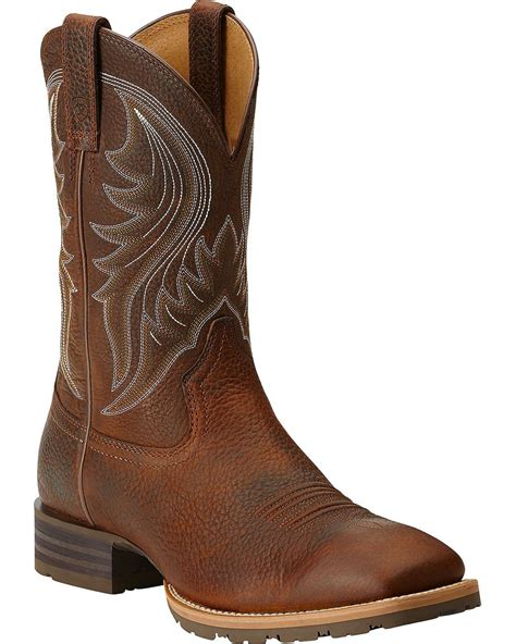 ariat toe boots ariat hybrid rancher cowboy boots square toe country