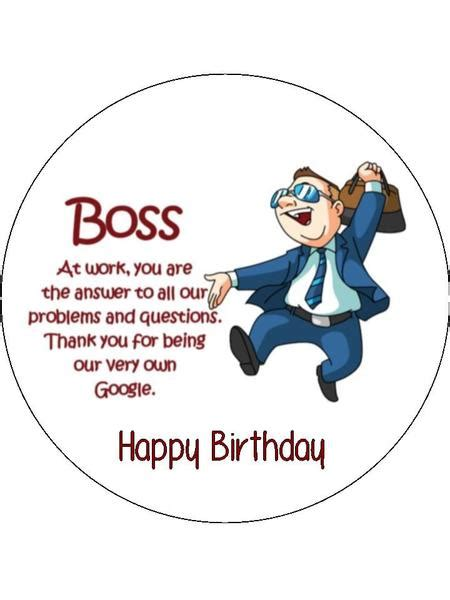 Shopping For Sheets by Happy Birthday Boss Manager Edible Icing Cake Topper 01