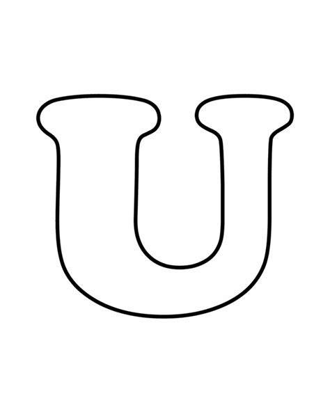 bubble letter u coloring coloring pages
