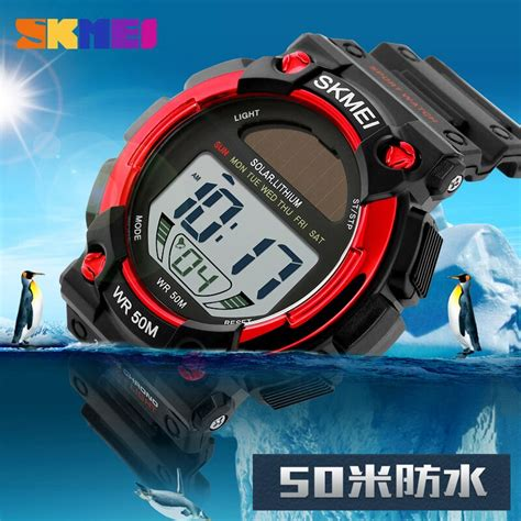Dijamin Jam Tangan Digital Skmei Sport Rubber Led 1145 skmei jam tangan digital pria dg1126 black jakartanotebook