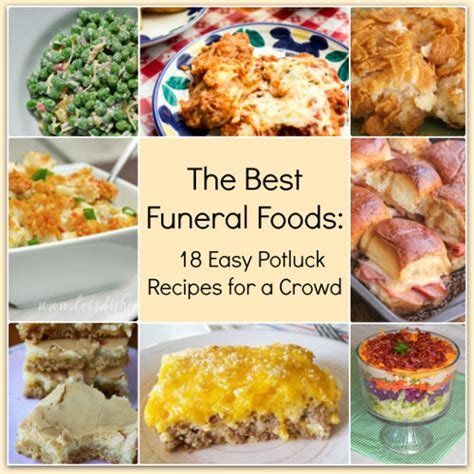 dishes for a potluck the best funeral foods 18 easy potluck recipes for a