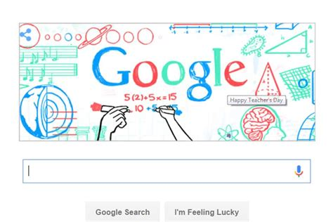 doodle today happy teachers day doodle pays tribute to