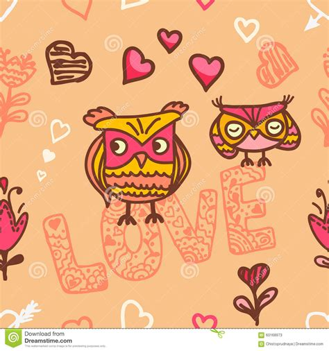 owl lovers owl lovers seamless background stock vector image 60168973