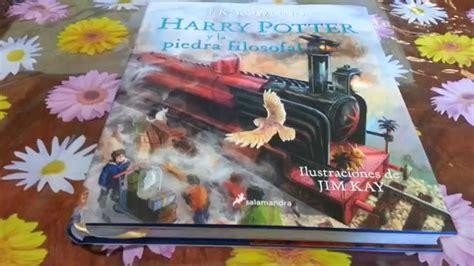 libro harry potter y el el libro de harry potter y la piedra filosofal edici 243 n ilustrada por jim kay 2015 unboxing youtube