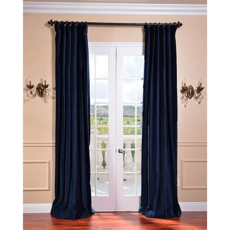 Blue Velour Curtains Indigo Blue Vintage Cotton Velvet Curtain