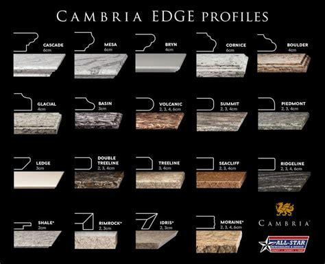Cambria   19 different Edge Profiles!   Cambria Quartz