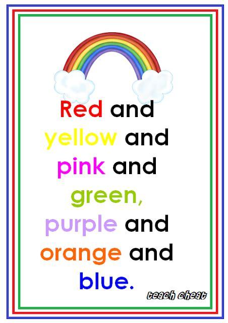 colors of the rainbow song teach rainbow song