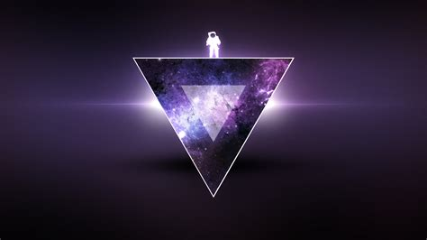 eclairage ecran fond d 233 cran minimalisme triangle astronaute texture