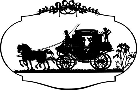Outline Of A Carriage by Cinderella Carriage Png Images