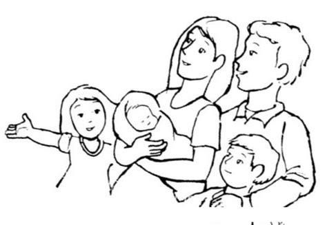 imagenes sobre la familia para pintar familia integrada dibujo de una familia de 5 integrantes