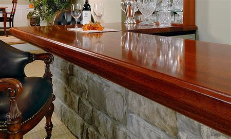 bar top finishes 4 inch applied edge brazillian cherry wood bar top in red